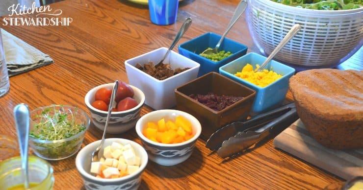kid-friendly salad bar