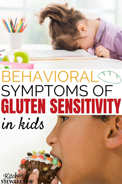 Behavioral symptoms of gluten sensitivity