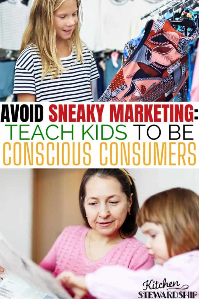 teach kids to be conscious consumers