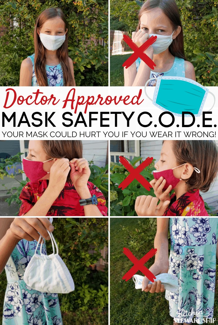 children wearing masks safely and incorrectly