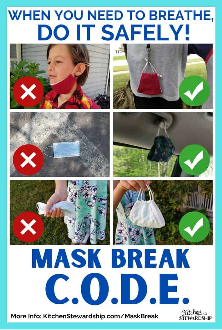 When you need to breathe, do it safely. Mask Break C.O.D.E.