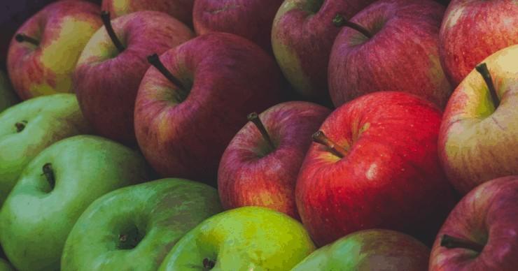 stockpile of apples