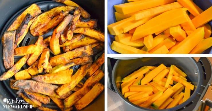 making squash air fryer fries