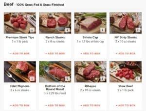 ButcherBox beef options
