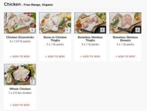 ButcherBox chicken options