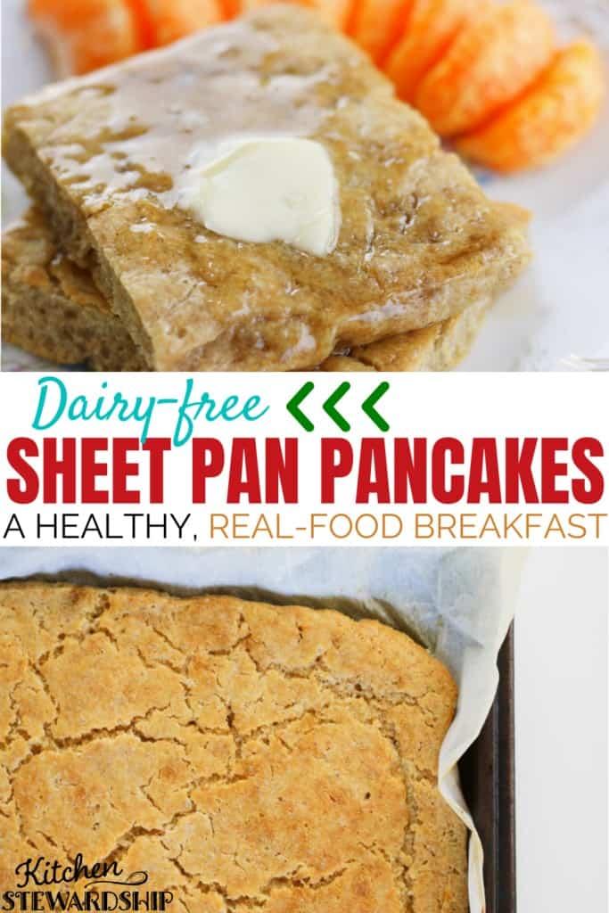 dairy-free breakfast: sheet pan pancakes