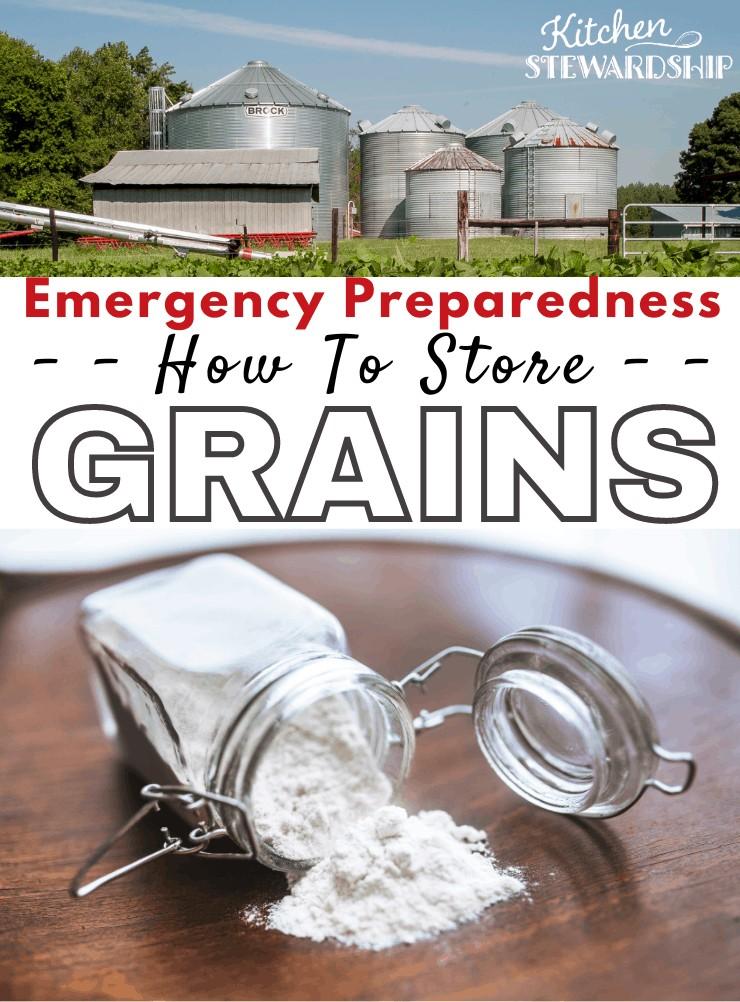 how to store grains, emergency preparedness