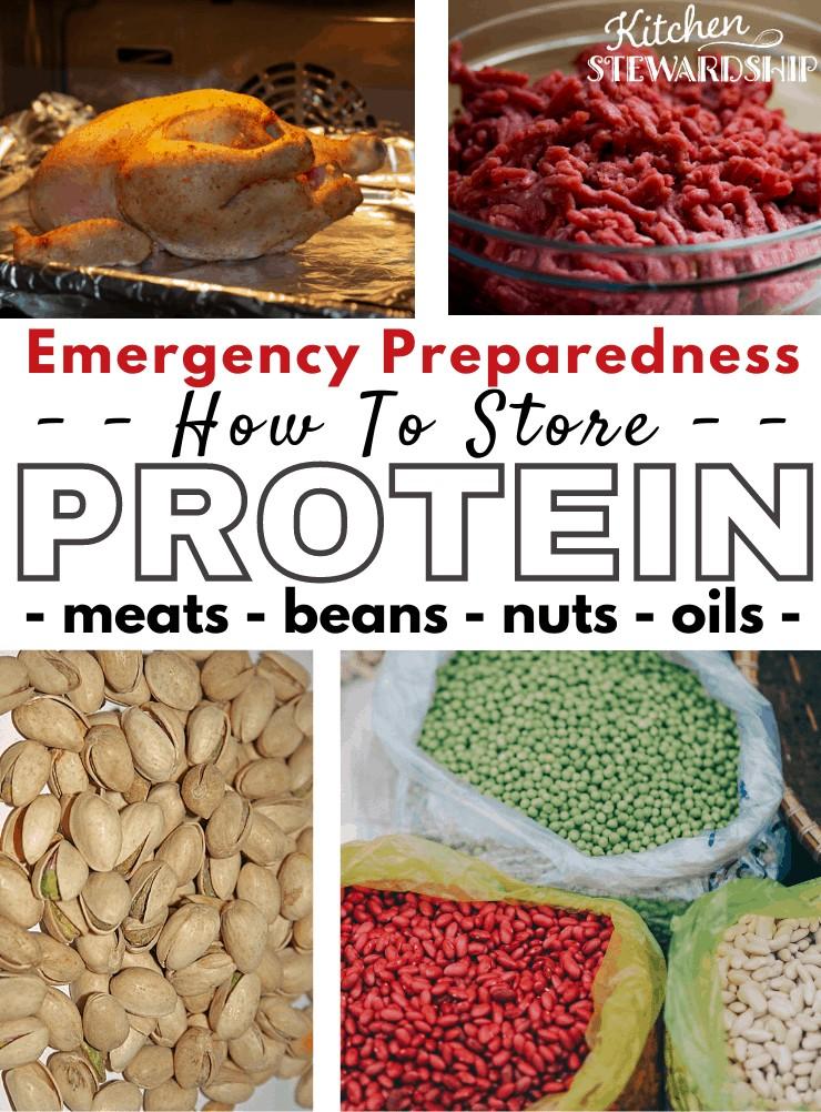 Storing protein chicken, beef, pistachios, beans