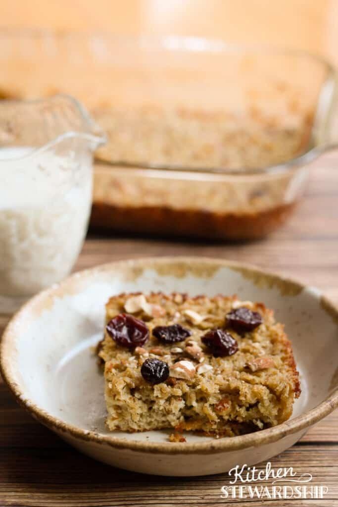 cherry almond baked oatmeal recipe
