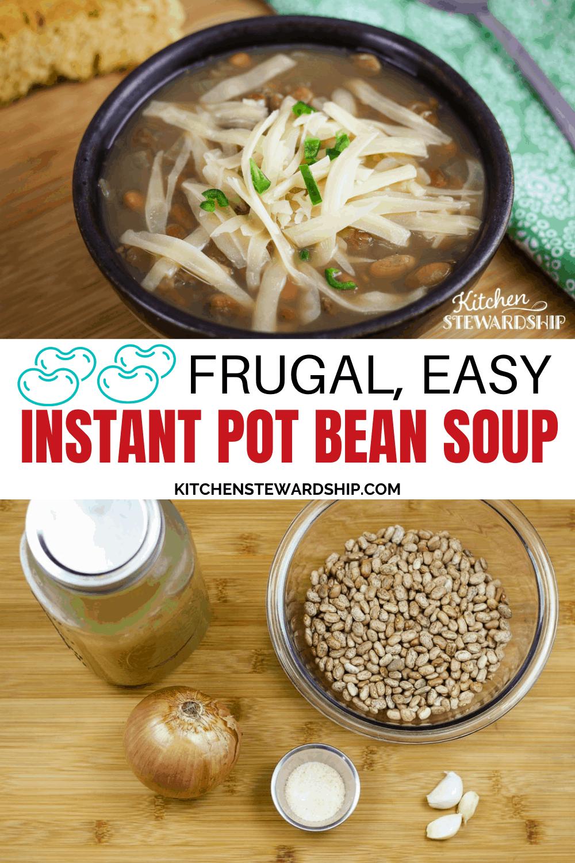 frugal easy instant pot bean soup