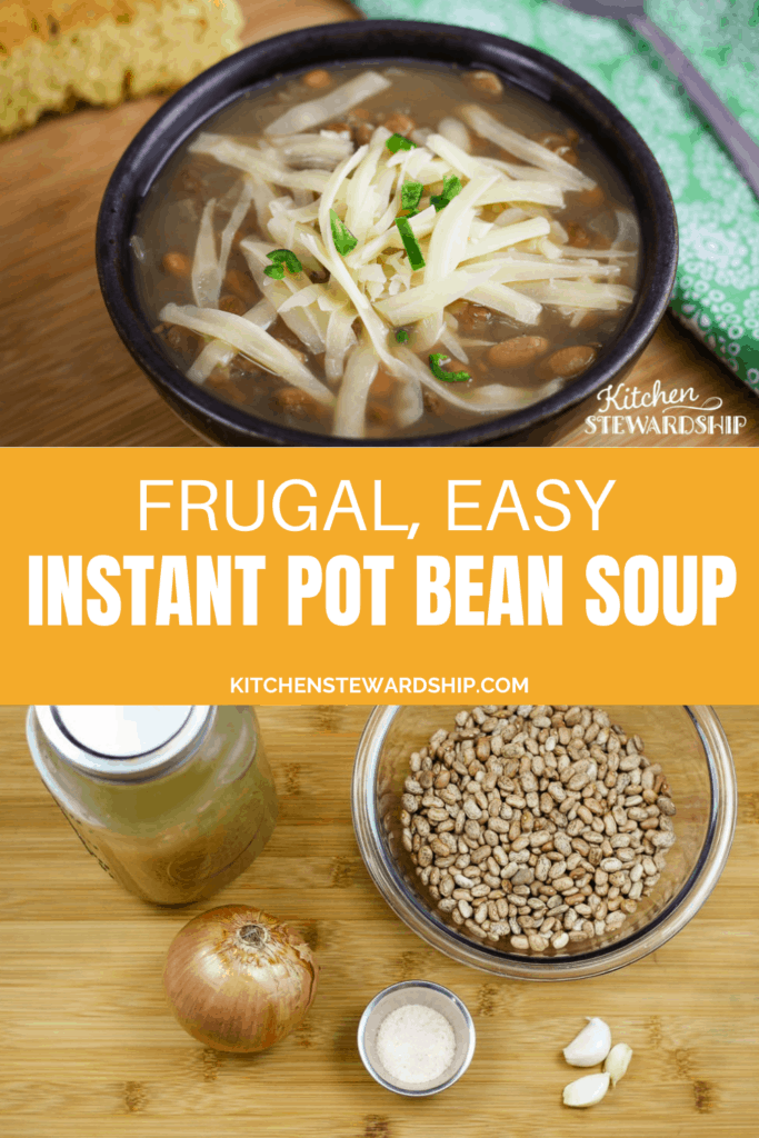 Frugal, easy Instant Pot bean soup