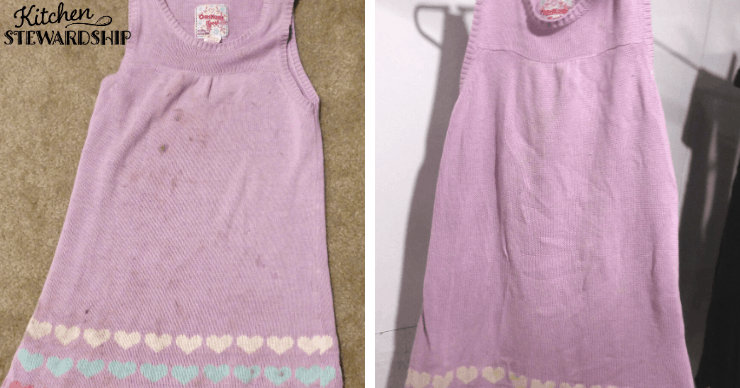 dress before and after washing