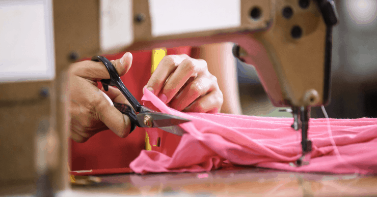 sewing clothing