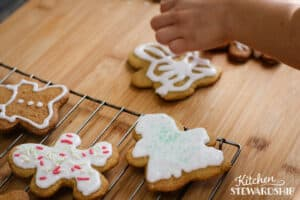 icing dairy-free gingerbread men