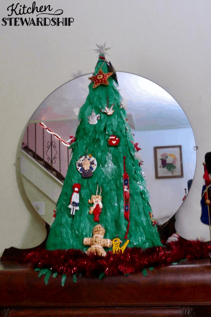 "homemade ""green"" Christmas tree"