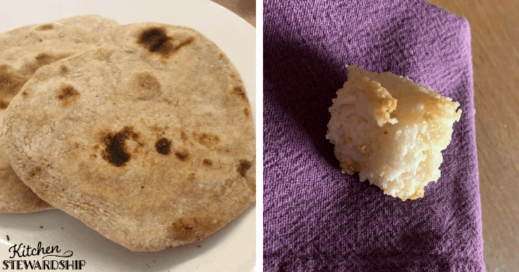 matzoh bread and macaroon
