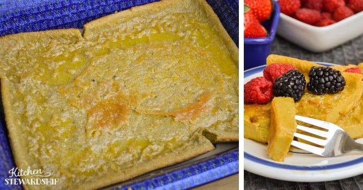 gluten-free oven pancake
