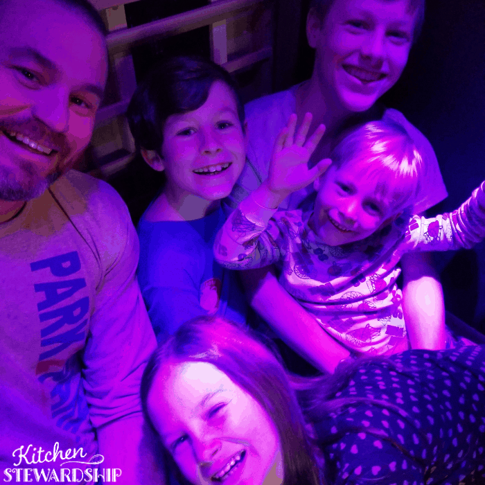 Kimball family in our Influence sauna
