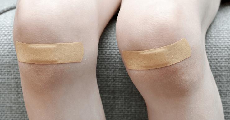 bandages on knees