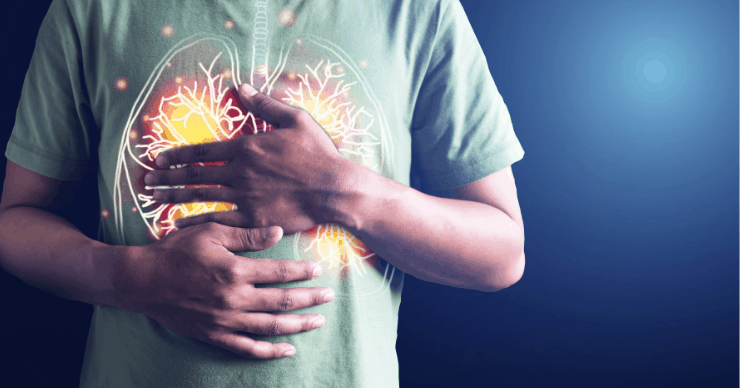 man with lung inflammation