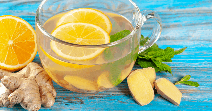 ginger and peppermint tea for nausea