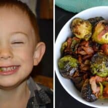 Air Fryer Brussels Sprouts with Bacon Recipe
