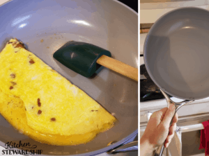 The Caraway pan cooks eggs great!
