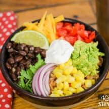 Easy Instant Pot Chicken Burrito Bowls Recipe