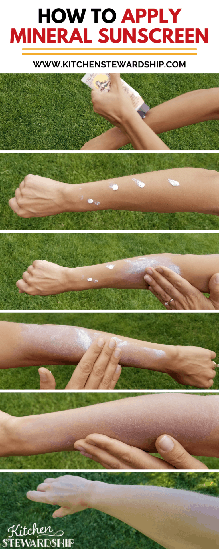 how to apply mineral sunscreen