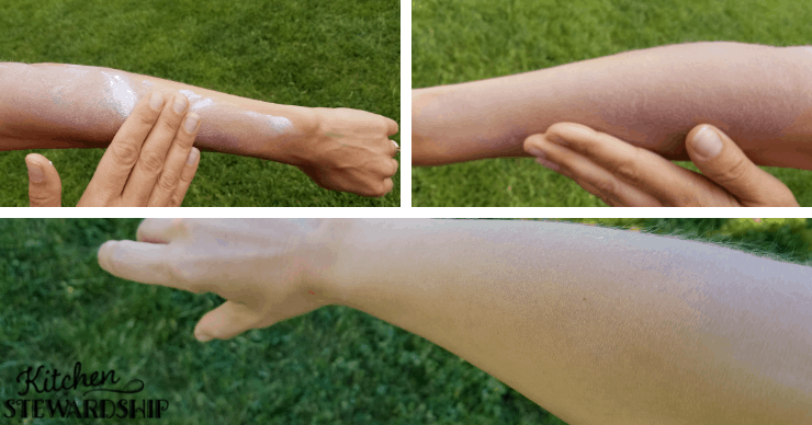 applying mineral sunscreen correctly