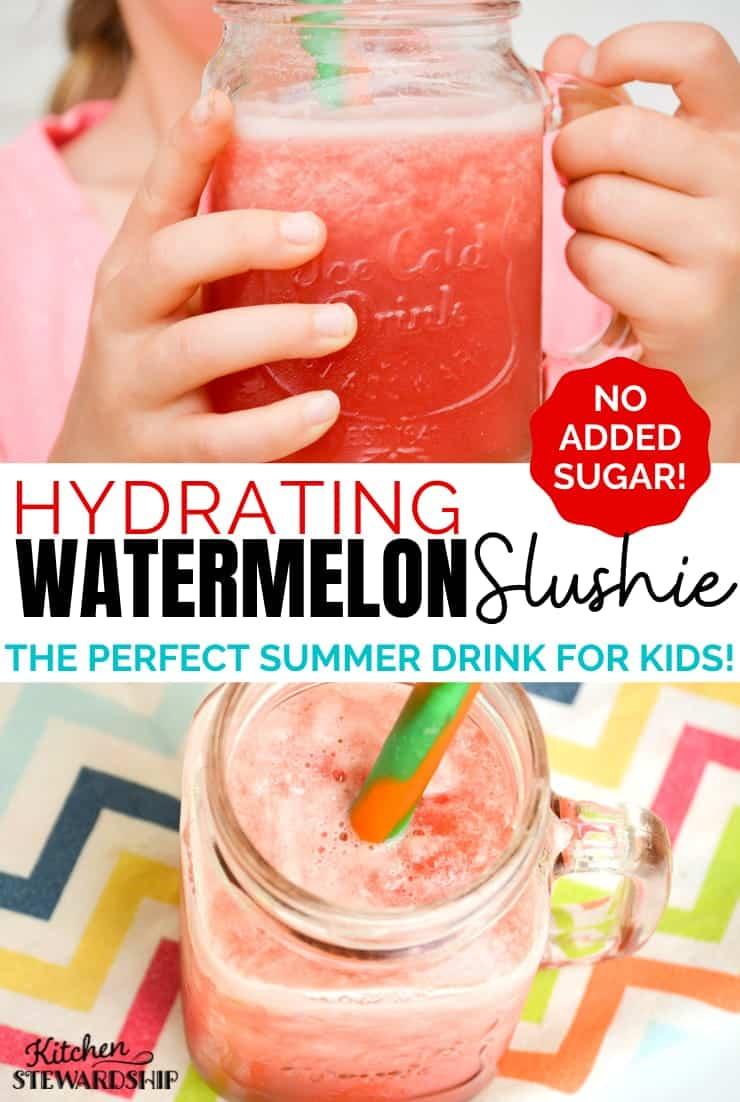 Hydrating watermelon slushie