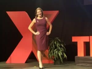 Katie Kimball at TEDx event