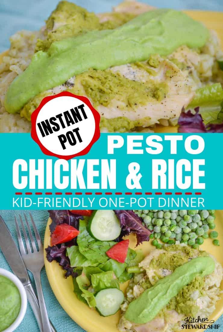 Pesto chicken and rice