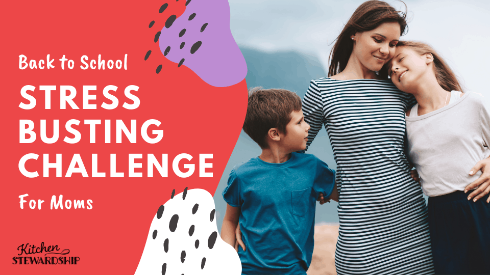 back to school stress busting challenge for moms
