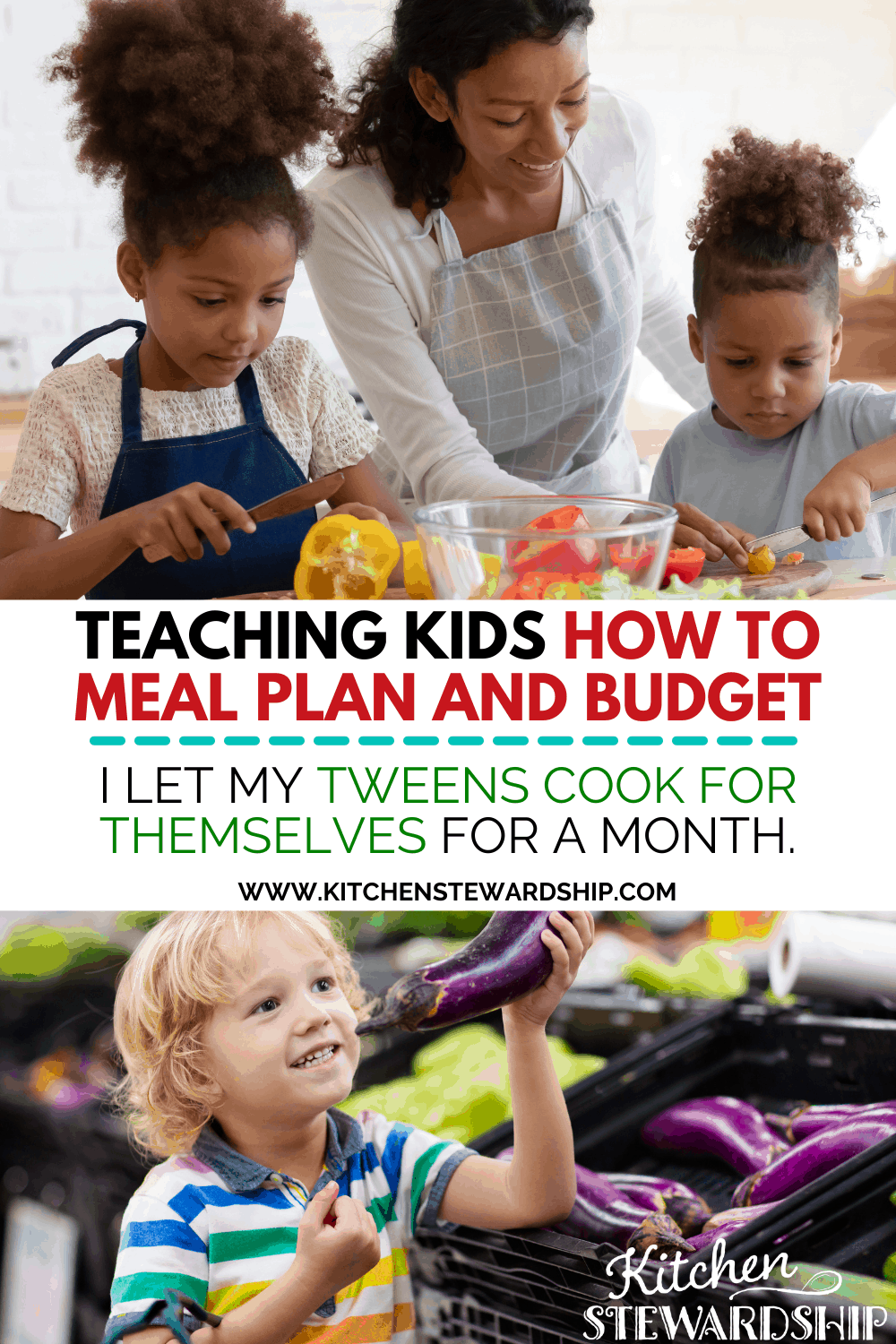 teaching kids how to meal plan and budget